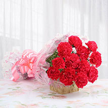 12 Pink carnation Bunch