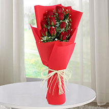 Romantic Red Roses Bunch