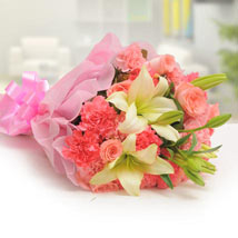 Pink Carnations with Lilies