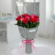 Red and Pink roses Bunch